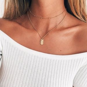 3 for $20 Pineapple Layered necklace